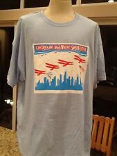 Chicago Air And Water Show 2013 Entertainment Fun Planes T-Shirt Blue 3XL