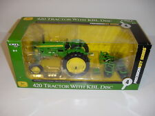 1/16 John Deere 420 Tractor W/Disc Precision #4 Key Series NIB! Never Displayed!