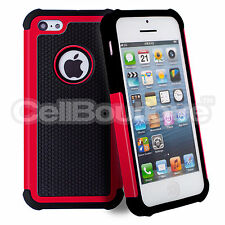 Hard Shockproof Case Cover for Apple iPhone 4s 5s 5c 6 FREE Screen Protector