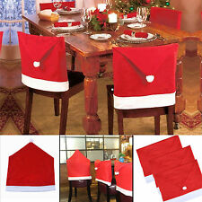Santa Red Hat Chair Covers Christmas Xmas Party Cover Dinner Table Decorations