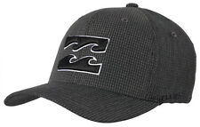 "NEW +TAG BILLABONG MENS BOYS ""ALL DAY"" L-XL CURVED PEAK FLEXFIT CAP HAT CHARCOAL"