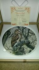 Wedgwood Collectors Plate The Majesty of Owls by Trevor Boyer Tawny Owl