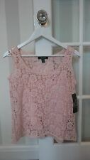 Ralph Lauren Ladies Pink Floral Crochet Blouse UK Size 10 Brand New RRP £120