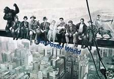 HOLLYWOOD MOVIE STARS LUNCH ATOP SKYSCRAPER VINTAGE PICTURE POSTER HOME ART NEW