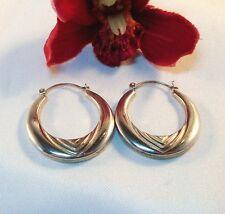 große Moderne Ohrringe Creolen Silber 925 er Ohrringe / be 945