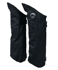 Genuine Leather Half Chaps Boot Pant Protectors Leggings Leg Guards LARGE