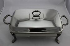 Stainless Steel Chafing Dish / Chafer with Glass Food Tray - 1.5 Litres Capacity