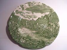 "Green Johnson Brothers Olde English Countryside Dessert Salad Plate 8"" England"