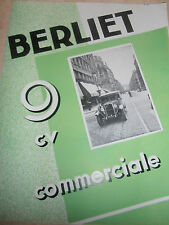 catalogue Berliet la 9 CV COMMERCIALE ref P 377