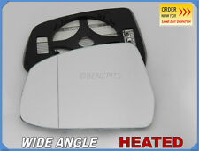 Wing Mirror Glass FORD MONDEO FOCUS 2007-2010 Wide Angle HEATED Left Side #D033