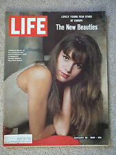 LIFE MAGAZINE -JANUARY 28 1966 - NEW BEAUTIES YOUNG FILM STARS of EUROPE