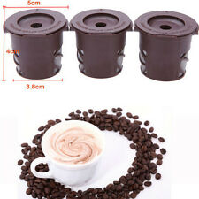 New 3PCS Reusable Coffee Capsules Tea Pods For Nespresso Stainless Steel Filters