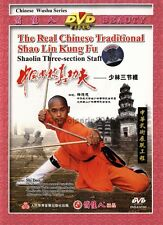 Real Shaolin KungFu Three section Staff by Shi Deci DVD