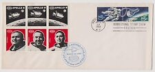 US Space Interpex Stamp Show 1969 Cover w Block of 6 Stamps Apollo 8 !  |
