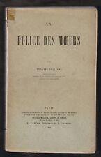 La Police des Mœurs par Edouard Dolléans. Première édition L.Larose, Paris 1903.