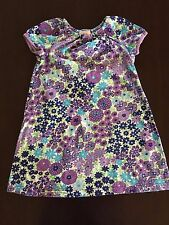 Hanna Andersson 120 6 x - 7 multi color short sleeve floral dress