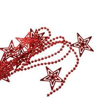 260cm Red Star Hollow Out Beads Garland Christmas Tree Hanging Decoration