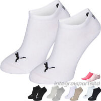 Puma Sports Socks Kids Packs - Invisible Sneakers Two Pair Plain/Mix Junior Pack