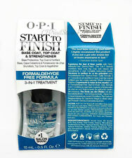 START to FINISH- opi Formaldehyde Free Formula- 3 in 1 treatment  0.5oz/15ml