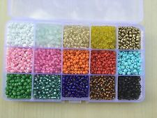 Wholesale Bulk Lot Boxed 300g 6/0 Glass Seed Beads 15 BEAUTIFUL COLORS Free Ship