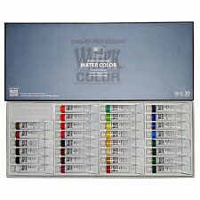 SHINHAN Professional Artist Grade Watercolor Paint Set 30 Colors 7.5ml Tube