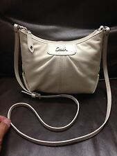 NO RESERVE Authentic Coach Leather Long Strap Mini HandBag Purse Shoulder Bag