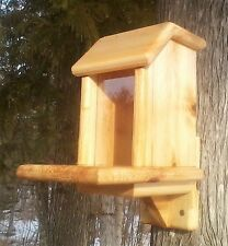 Pop Up lid, square, tree mount squirrel feeder, cedar wood. Thr Birds Nest