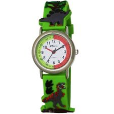 Ravel Eye-Catching Dinosaur 3D Kids Green Time Teacher Quartz Watch R1513.59 New
