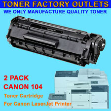 2PK 104 FX9 FX10 Toner Cartridge For Canon ImageClass MF4350D MF4150 D420 D480
