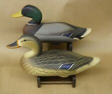 Chestertown Maryland Charlie Joiner Pair of Mallards Decoys S&D 1985