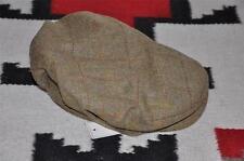 Ralph Lauren RRL Leather Trim Tweed Wool Driving Cap Hat S
