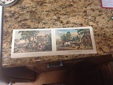 "Currier And Ives Postcard Prints American Country life/Amer Farm Scenes, 4""x 6"""
