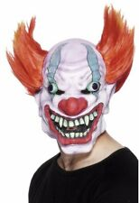 Insane Clown Mask Wide Smile Crazy Red Hair Evil ICP Scary Adult Mens Soft Latex