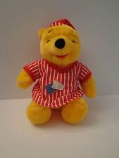Disney Mattel 1998 Winnie the Pooh Plush Red White Nightshirt PJs Night Cap