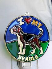 """Stained Glass Style """" beagle """" Dog Night Light- Great Gift For All Occasions !"""