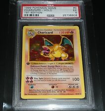 PSA EXCELLENT 5 Charizard 4/102 1st Edition Base Set Shadowless Pokemon Card