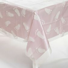Plastic Clear Baby Footprint Table Cover Shower Decoration