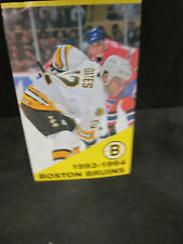 BOSTON BRUINS 1993-1994 ADAM OATES/CREST SCHEDULE