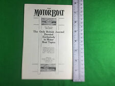 The MotorBoat very early advert 1909 Motor Boat Journal