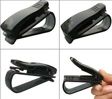 Black Car Vehicle Sun Visor Eye Sunglasses Eyeglass Visor Pen Card Holder Clip