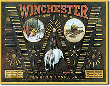 """Winchester"" Ammunition, Repeating Arms Co, Tin Sign 12"" X 16"" Pub, Home Decor"