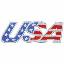 USA US American Stars Flag Motorcycle Biker Army Military Iron-On Patches #FL037