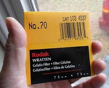 "NEW-SEALED Wratten 70 3x3"" long wavelength-low frequency pass filter INFRARED IR"