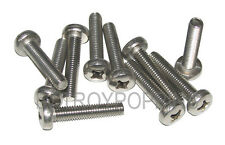 10-SS M6 X 30MM PPH PHILLIPS PAN HEAD STAINLESS STEEL 6MM MACHINE SCREWS METRIC