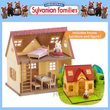 NEW SYLVANIAN FAMILIES COSY COTTAGE HOME with FURNITURE & RABBIT FREYA 5242