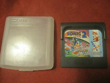 Sonic the Hedgehog 2 (Sega Game Gear, 1992) Cartridge and Plastic case