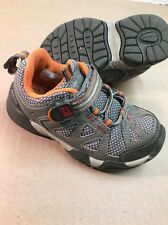 STRIDE RITE M2P IAN Brown Orange Athletic Shoes Toddler Boys Size 9.5M