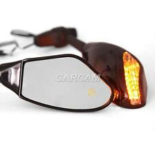 LED Amber Turn Signals Mirrors Fit Can-Am Spyder Roadster RS RT Phantom