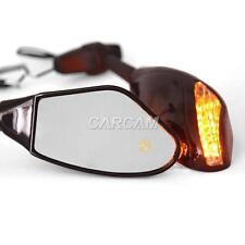 Amber Turn Signals Mirrors Fit Buell Lighting XB9SX XB12S Firebolt XB9R XB12R