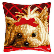 Yorkshire con Fiocco: Vervaco trama grossa CROSS STITCH Cuscino KIT-pn0146989